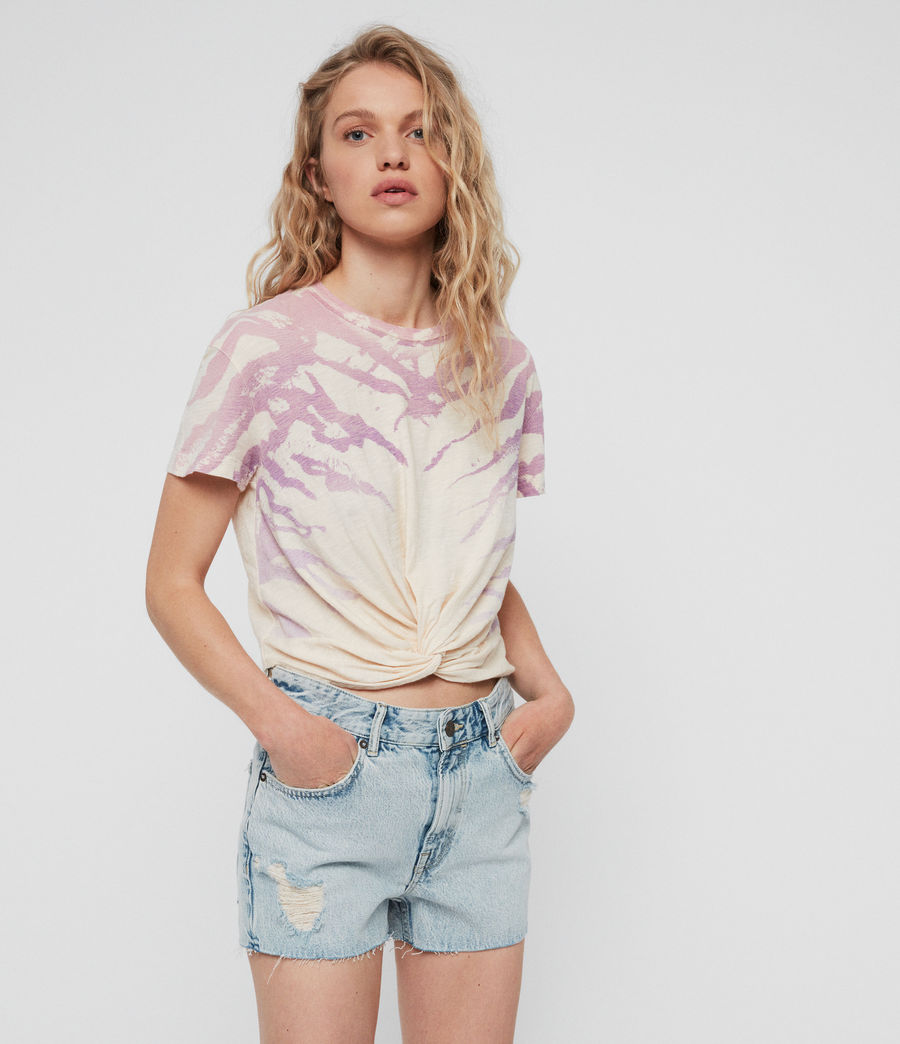Womens Ombre Stripes Carme T-Shirt (washed_yellow) - Image 2