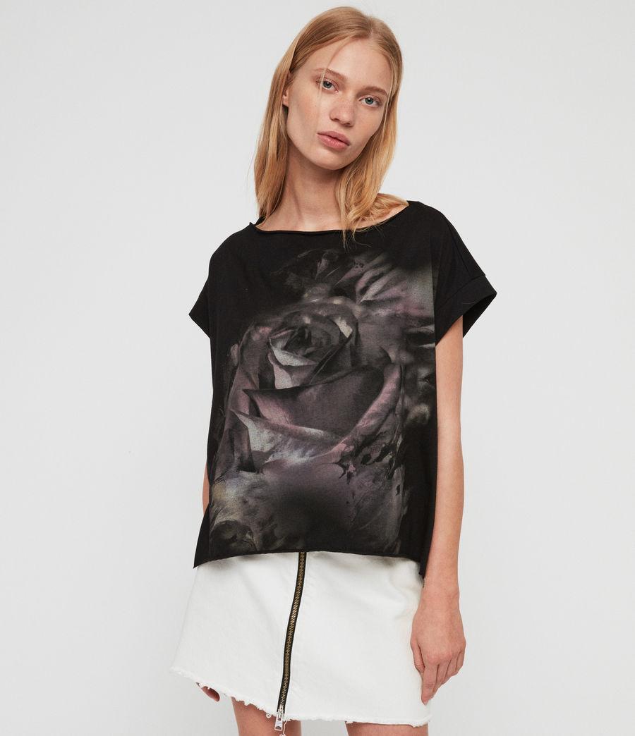 Womens Rose Brush Pina T-Shirt (black) - Image 2