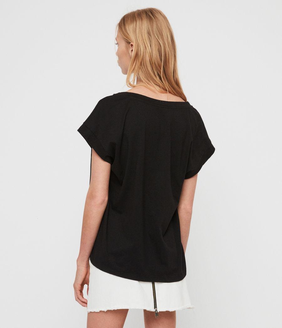Womens Rose Brush Pina T-Shirt (black) - Image 5