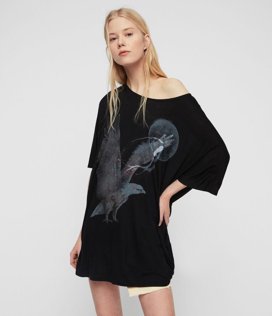 Womens Eagle Dreams T-Shirt (black) - Image 1