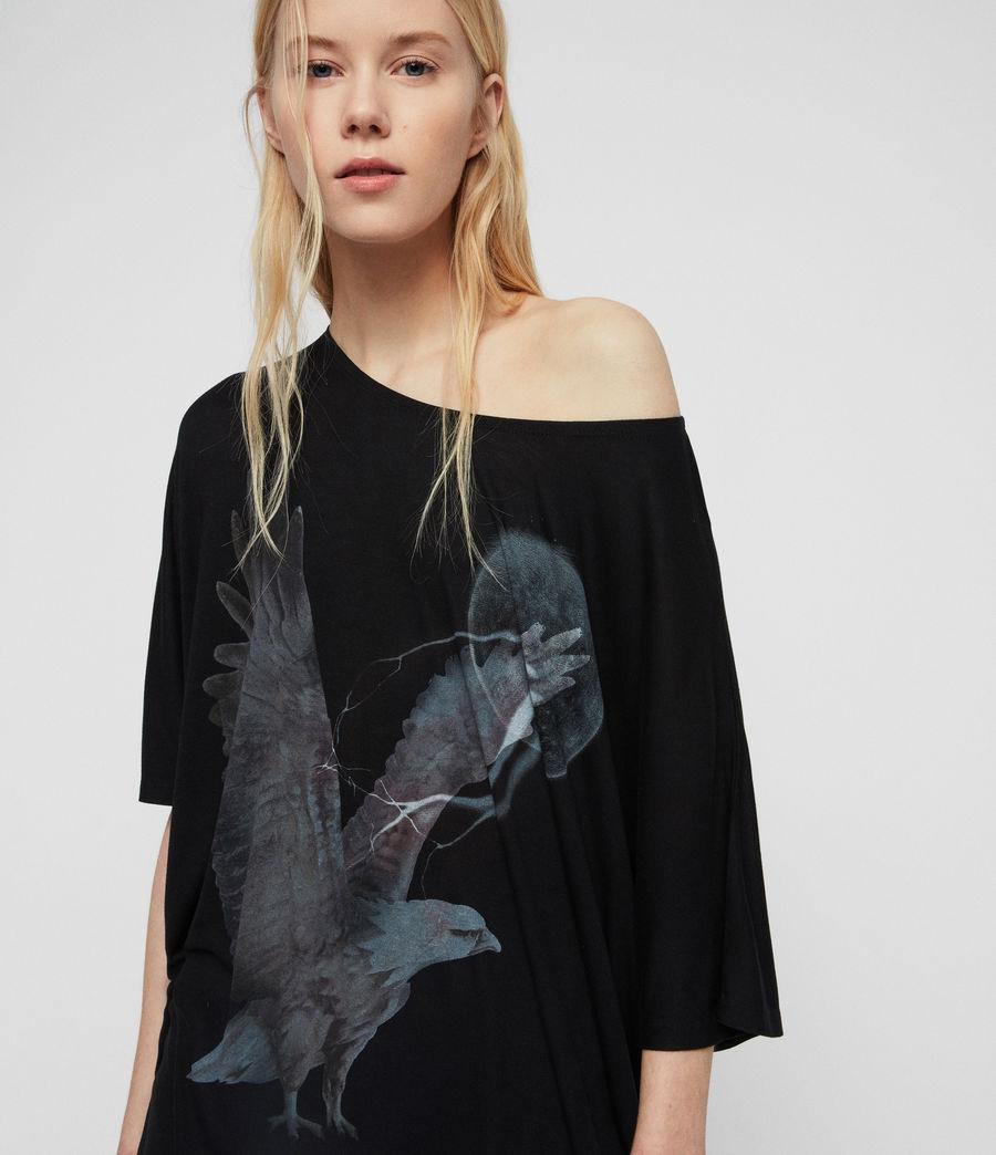 Womens Eagle Dreams T-Shirt (black) - Image 2