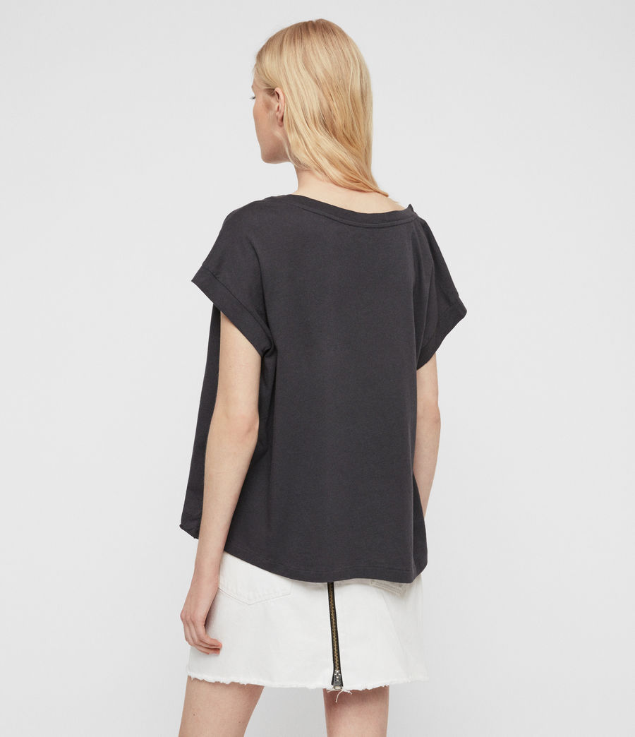 Damen Tiger Pina T-Shirt (washed_black) - Image 4