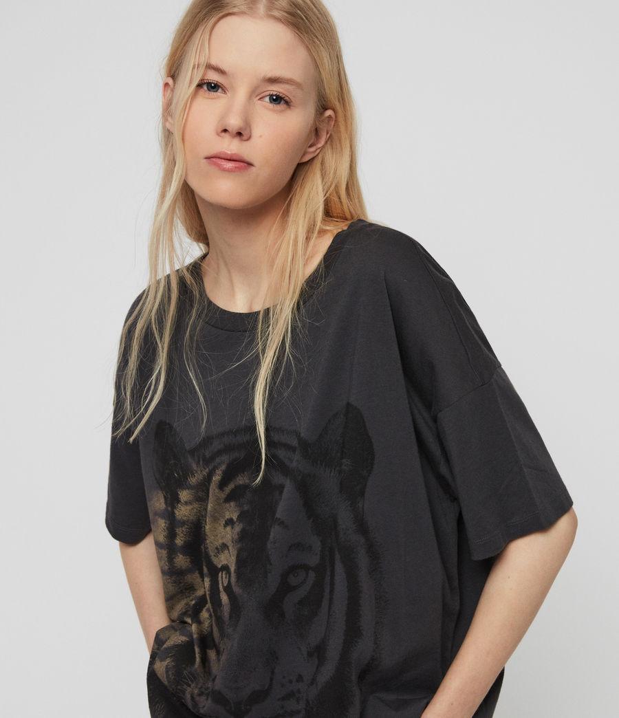 Women's Tiger Cori T-Shirt (washed_black) - Image 2