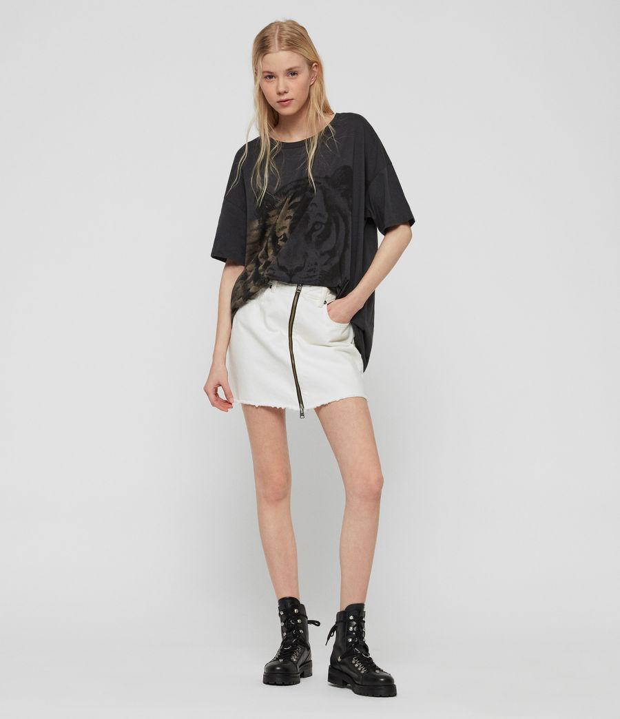 Womens Tiger Cori T-Shirt (washed_black) - Image 3