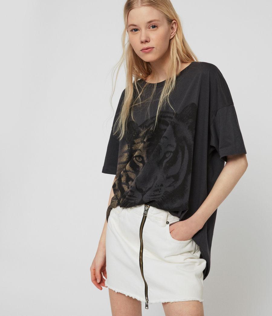 Womens Tiger Cori T-Shirt (washed_black) - Image 5