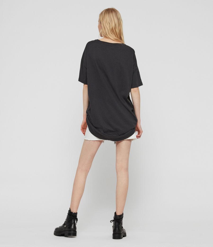 Womens Tiger Cori T-Shirt (washed_black) - Image 6