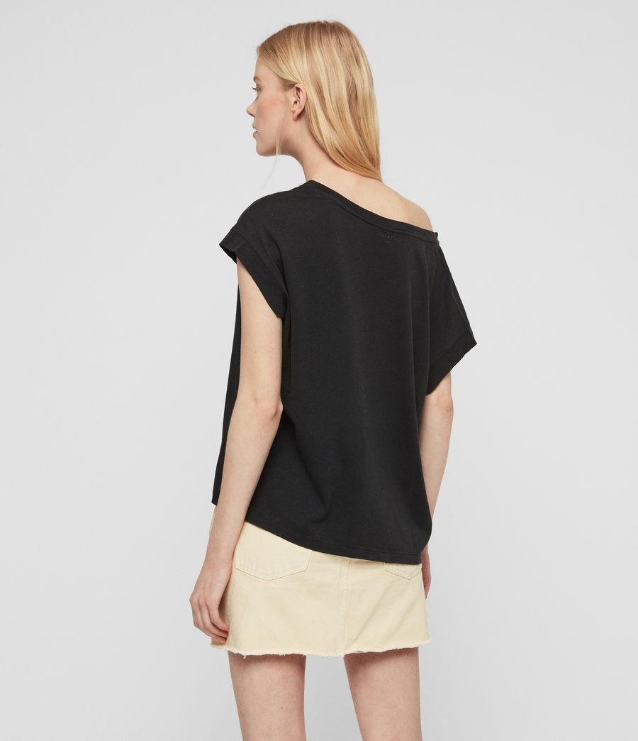 Women's Os Feather Pina T-Shirt (fadeout_black) - Image 6