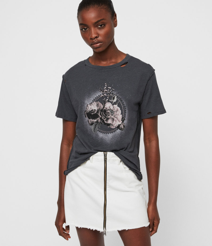 Women's Ethie Dime T-Shirt (washed_black) - Image 1