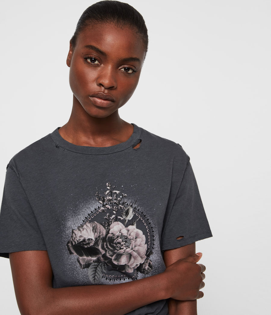 Femmes T-Shirt Ethie Dime (washed_black) - Image 2
