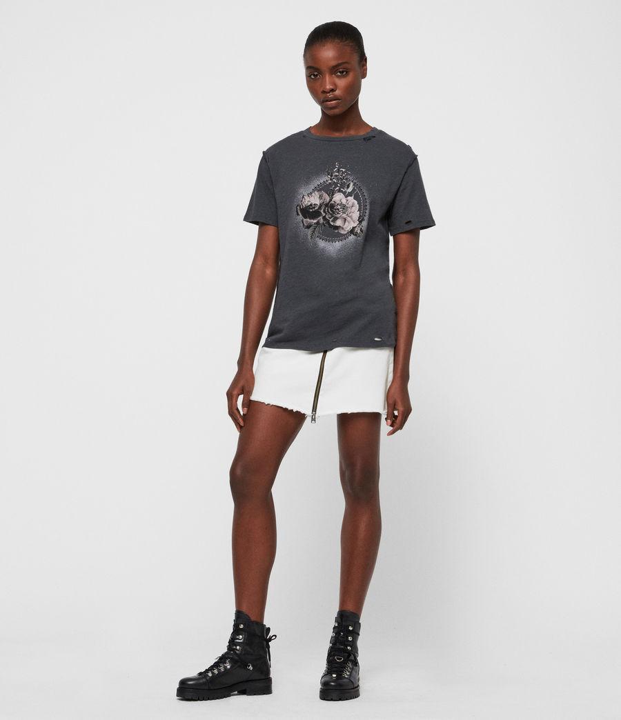 Femmes T-Shirt Ethie Dime (washed_black) - Image 3