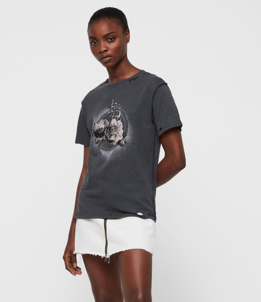 Femmes T-Shirt Ethie Dime (washed_black) - Image 4