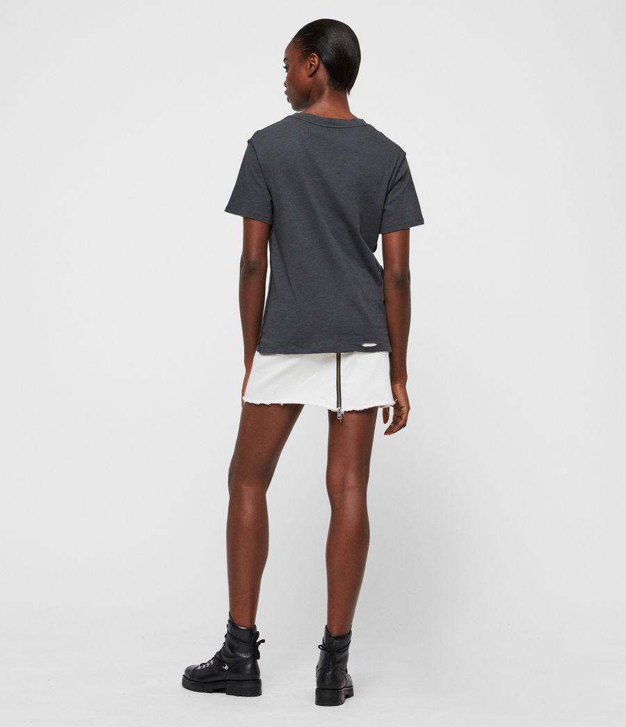 Women's Ethie Dime T-Shirt (washed_black) - Image 5