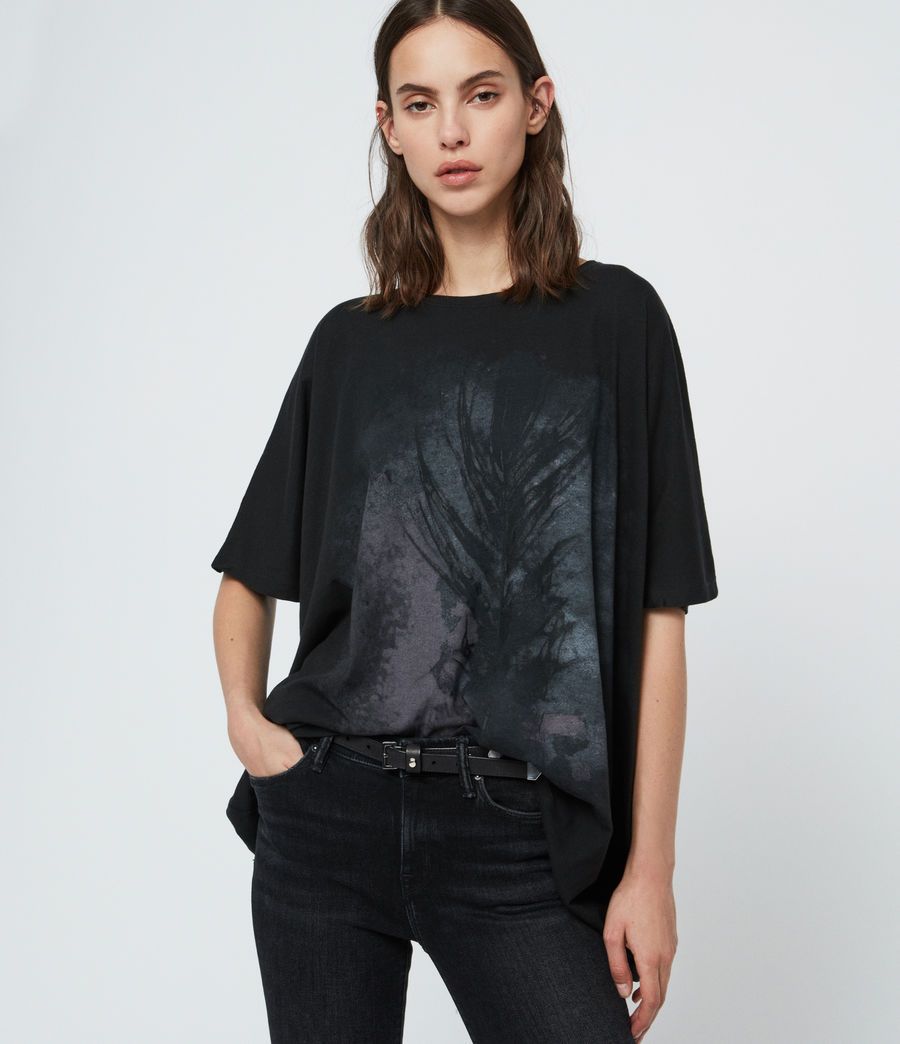 Damen Feathers Dreams T-Shirt (black) - Image 2