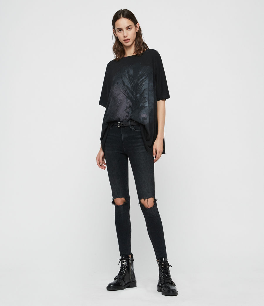 Damen Feathers Dreams T-Shirt (black) - Image 3