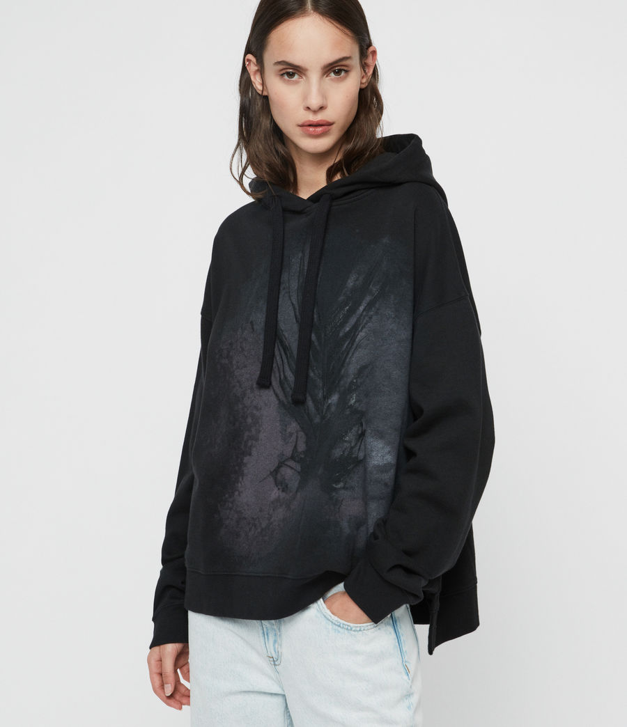 Womens Feather Lo Hoodie (black) - Image 1