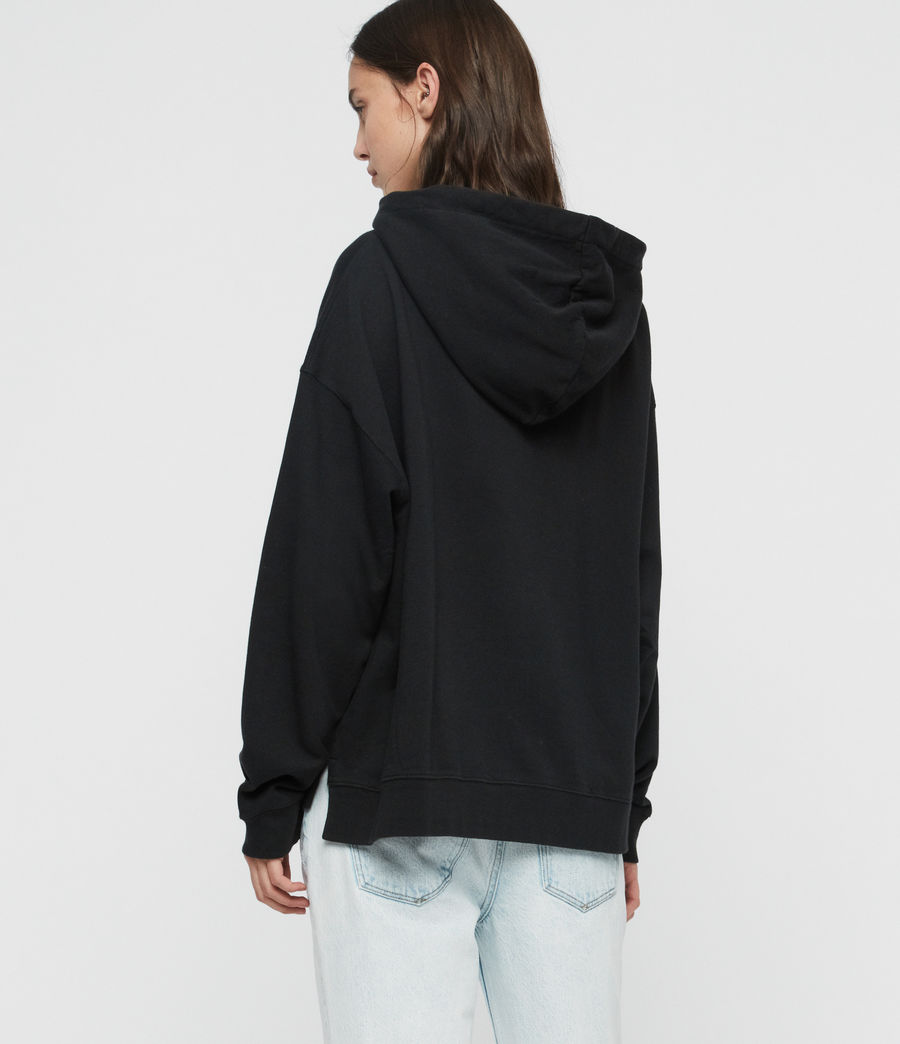 Women's Feather Lo Hoodie (black) - Image 5