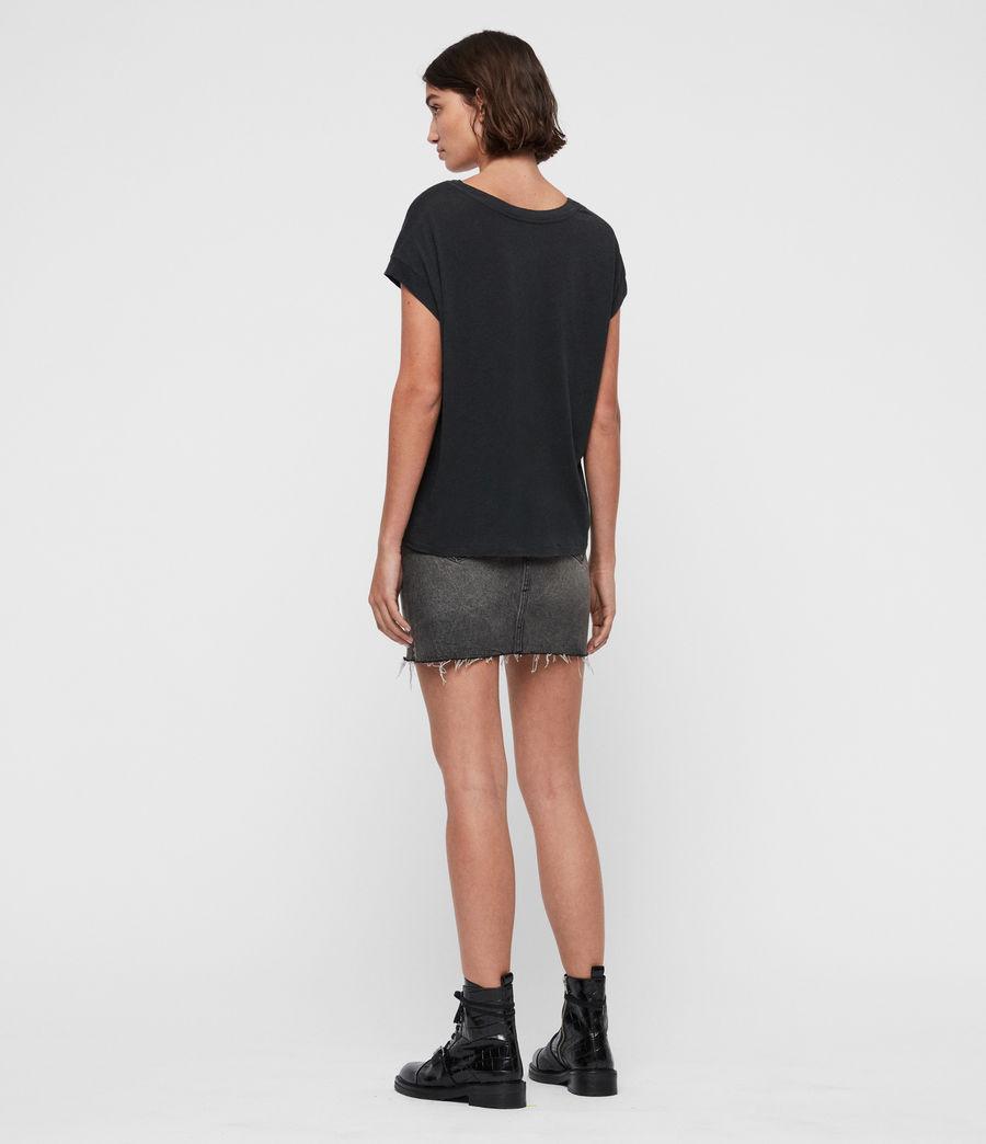 Women's Paisley Pina T-Shirt (fadeout_black) - Image 4