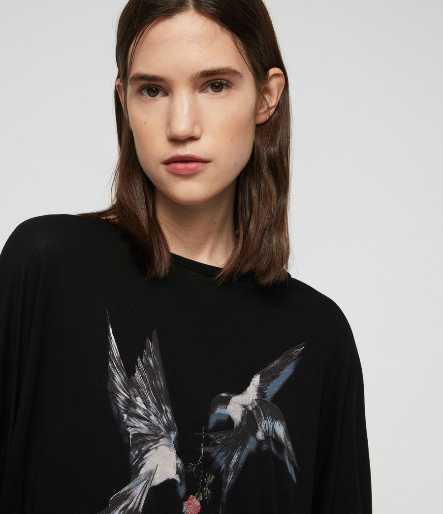 Women's Lovers Wave T-Shirt (black) - Image 2