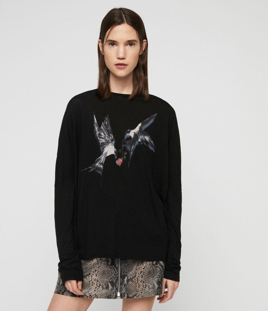 Women's Lovers Wave T-Shirt (black) - Image 3
