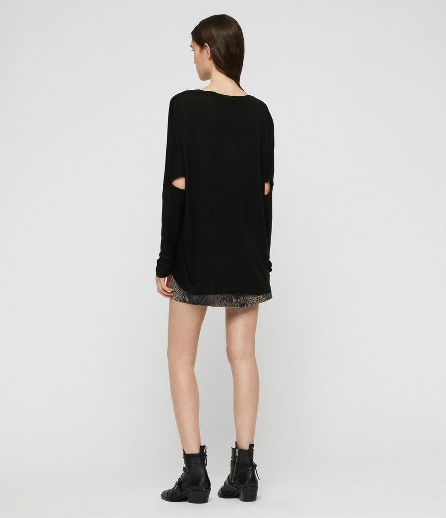 Women's Lovers Wave T-Shirt (black) - Image 4