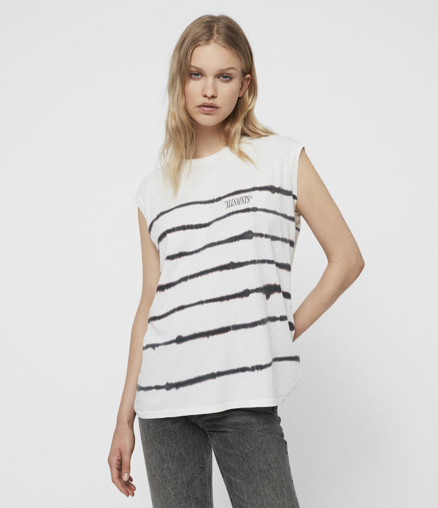 Mujer Camiseta sin Mangas Brooke Tystripe (chalk_white) - Image 1
