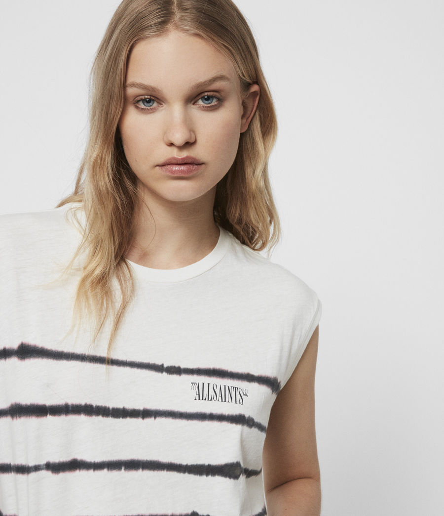 Mujer Camiseta sin Mangas Brooke Tystripe (chalk_white) - Image 2