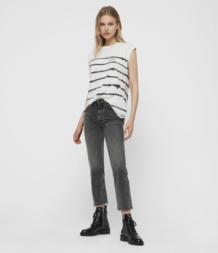 Mujer Camiseta sin Mangas Brooke Tystripe (chalk_white) - Image 3