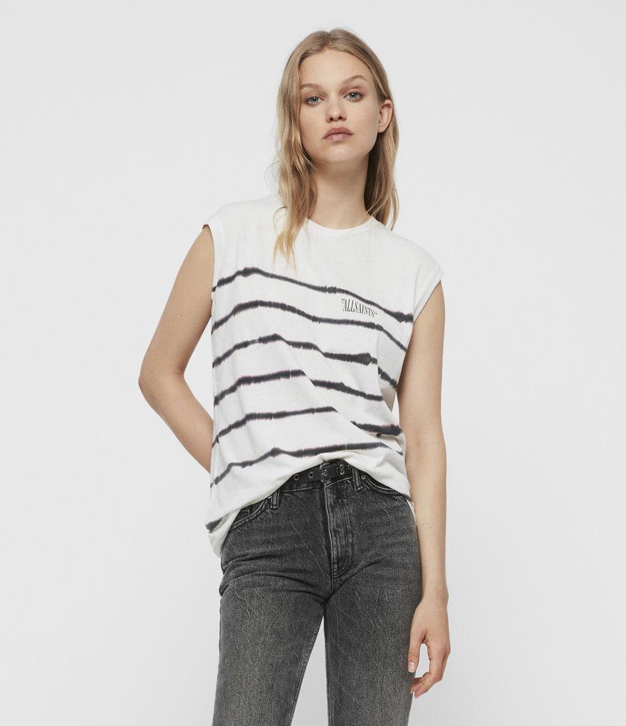 Mujer Camiseta sin Mangas Brooke Tystripe (chalk_white) - Image 4