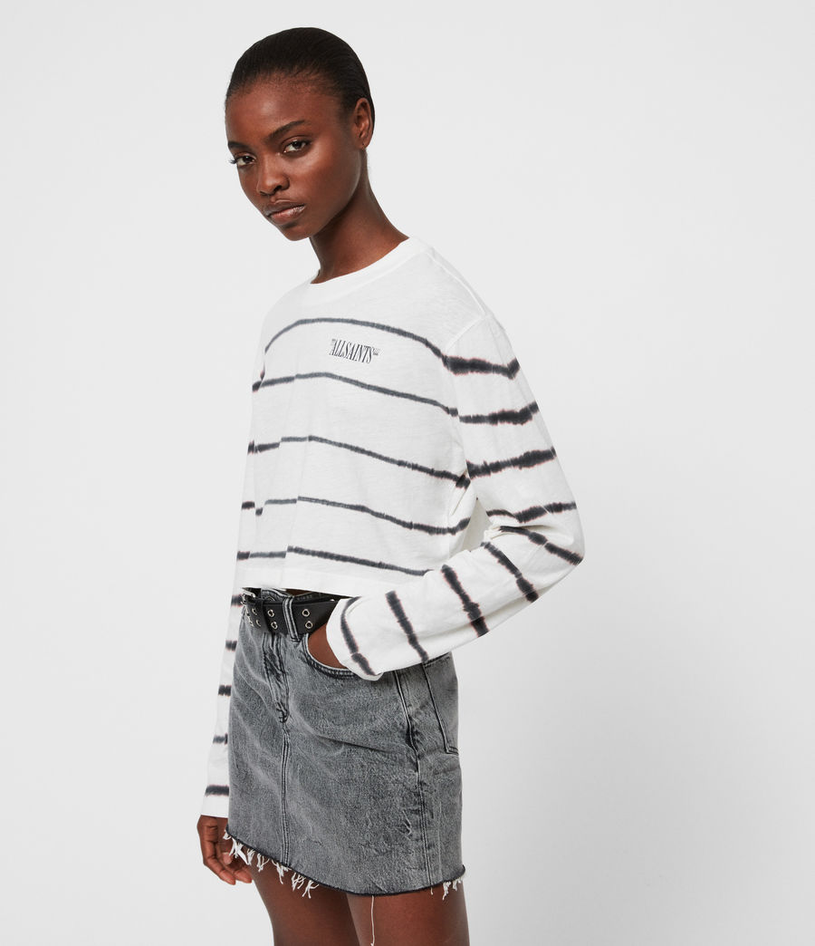 Women's Tystripe Benno T-Shirt (chalk_white) - Image 1