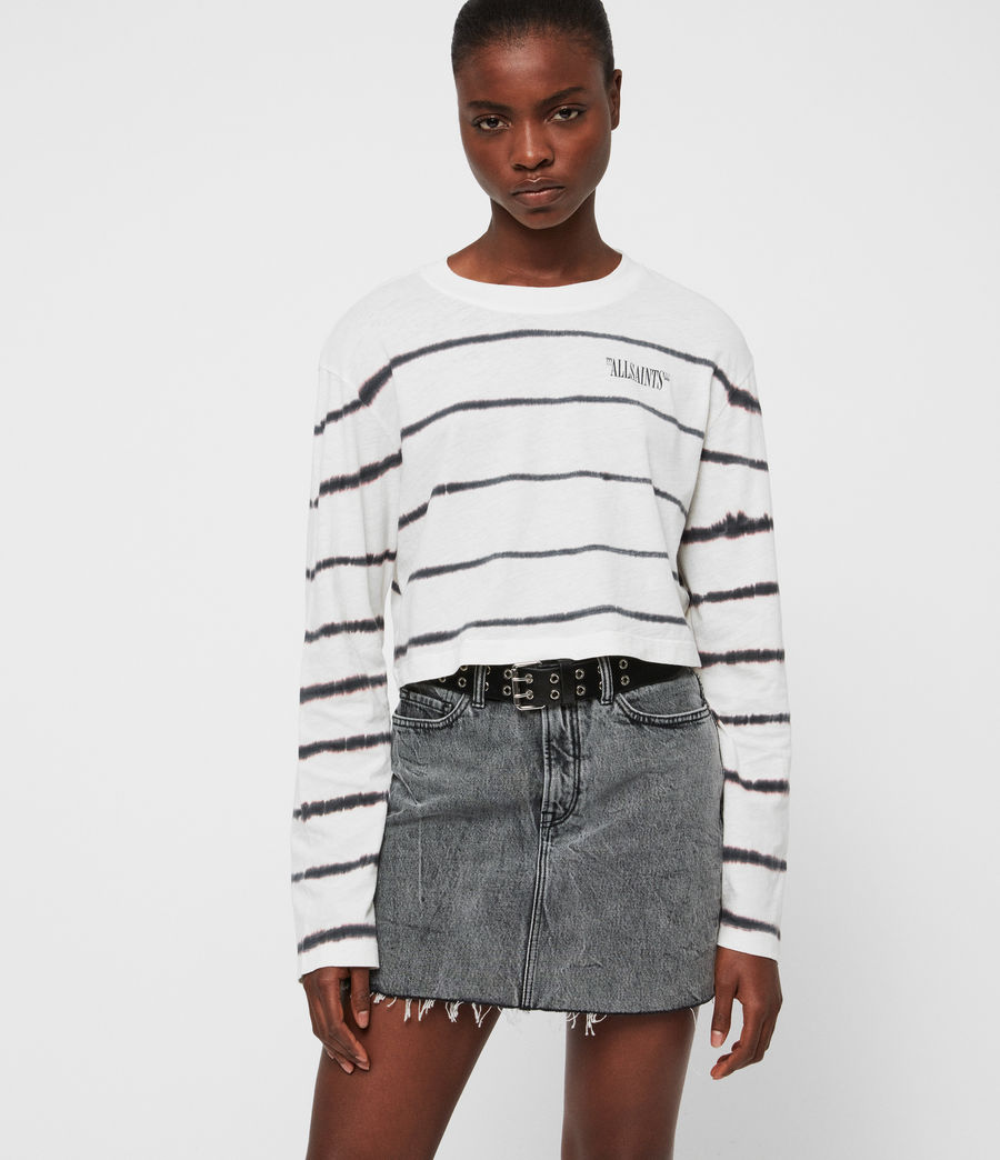 Women's Tystripe Benno T-Shirt (chalk_white) - Image 3