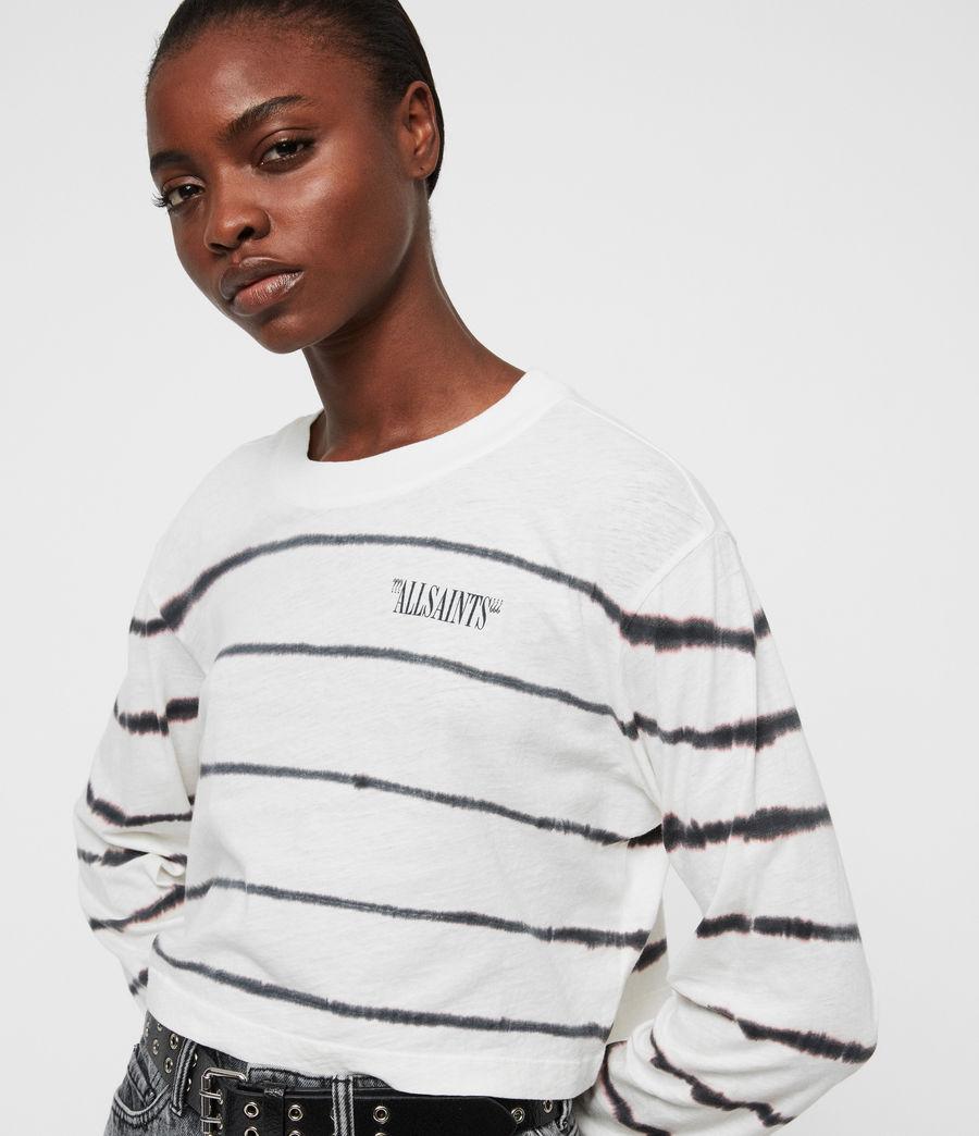 Women's Tystripe Benno T-Shirt (chalk_white) - Image 4