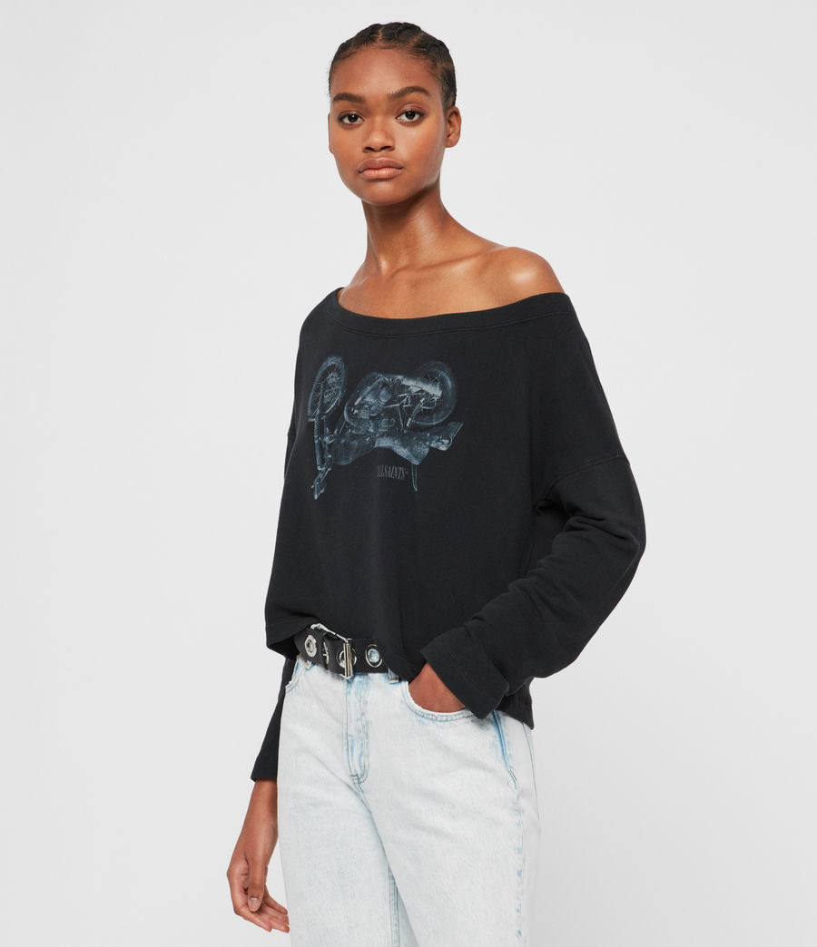 Damen Motorbike Senia Sweatshirt (fadeout_black) - Image 1