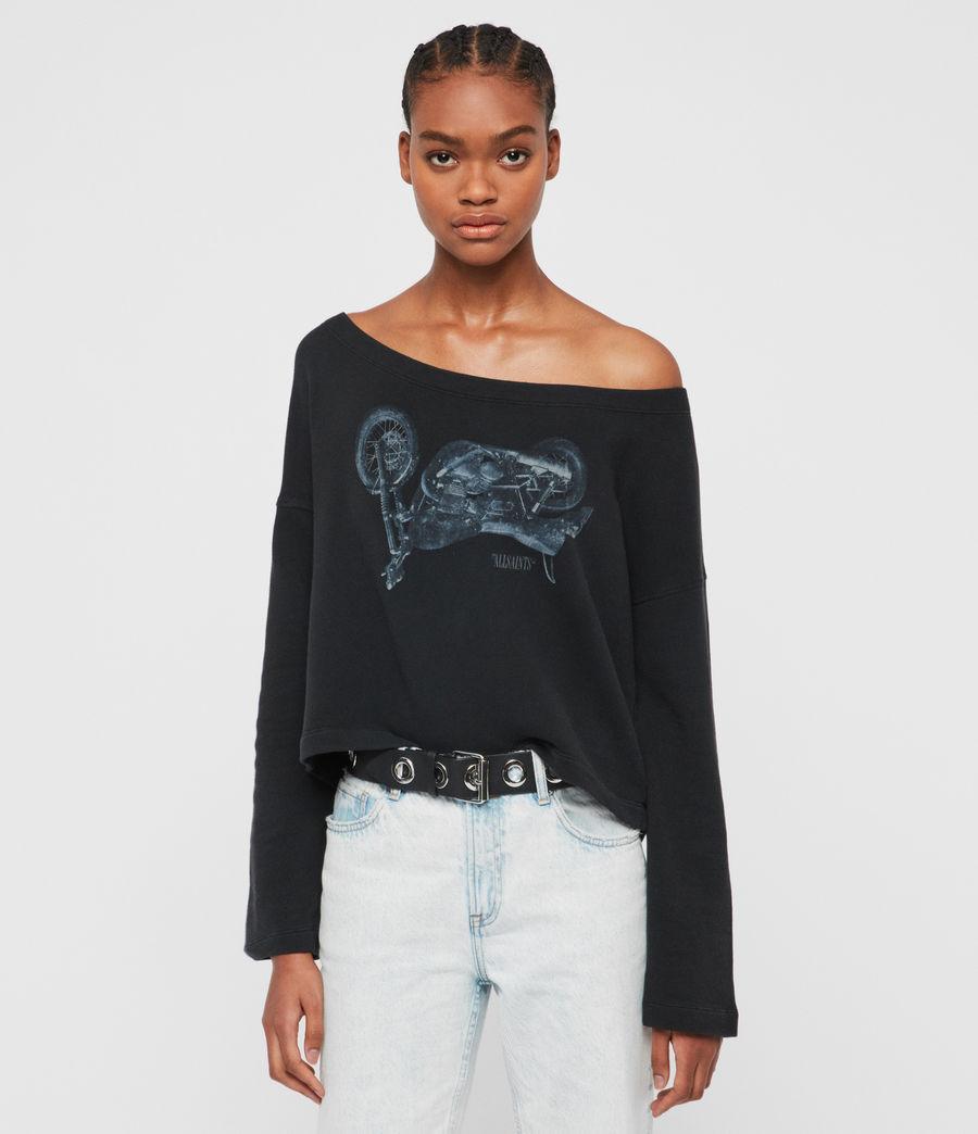 Damen Motorbike Senia Sweatshirt (fadeout_black) - Image 4