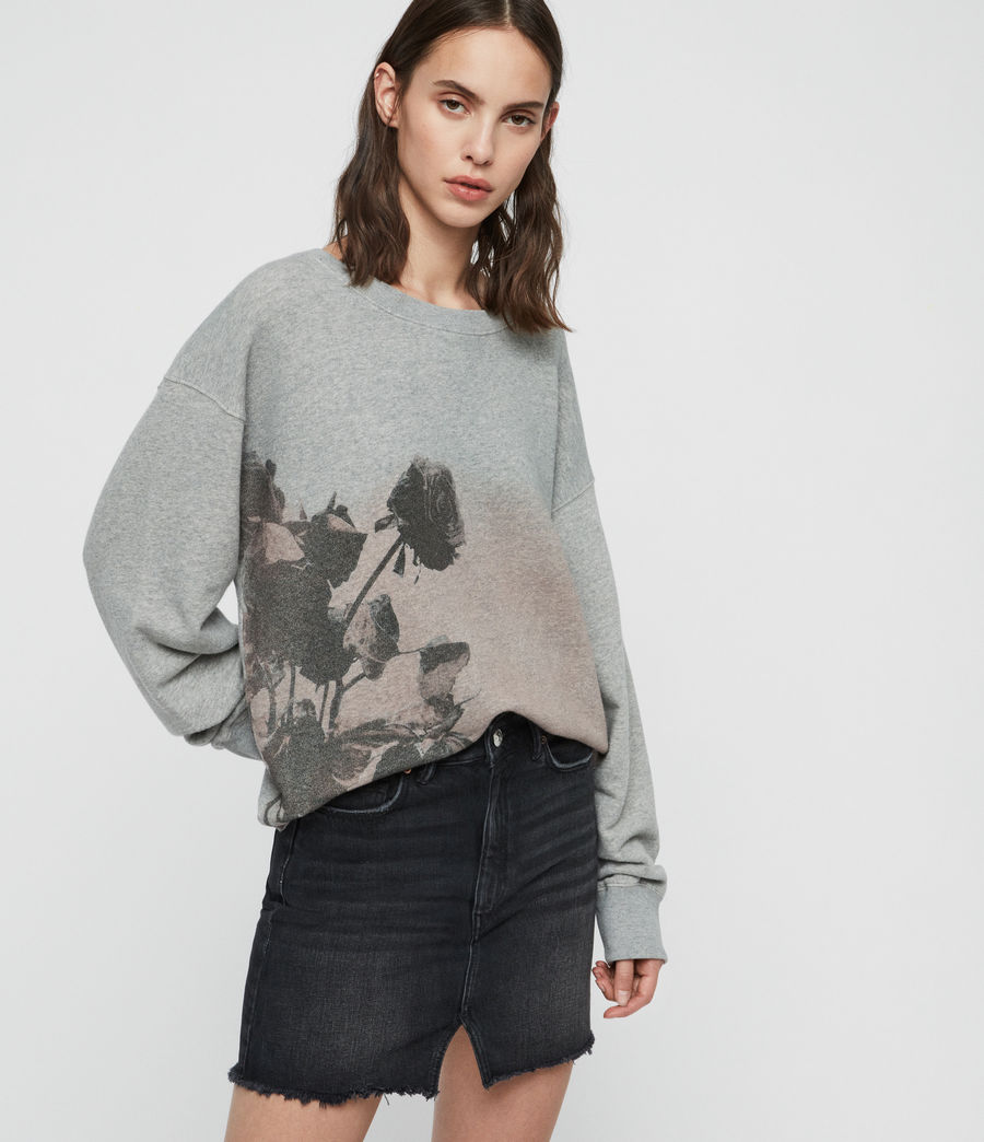 Damen Rose Piro Sweatshirt (grey_marl) - Image 1