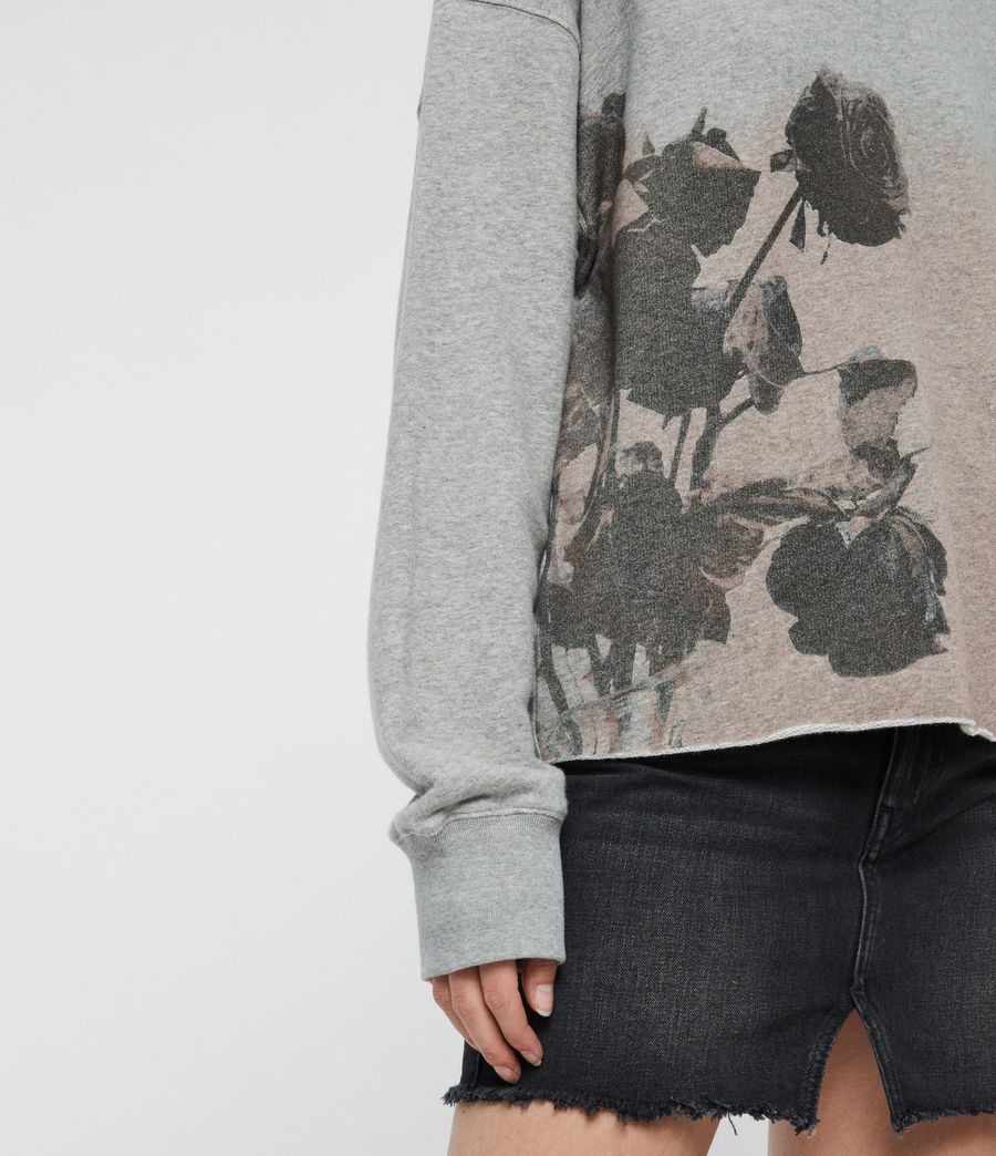 Damen Rose Piro Sweatshirt (grey_marl) - Image 3