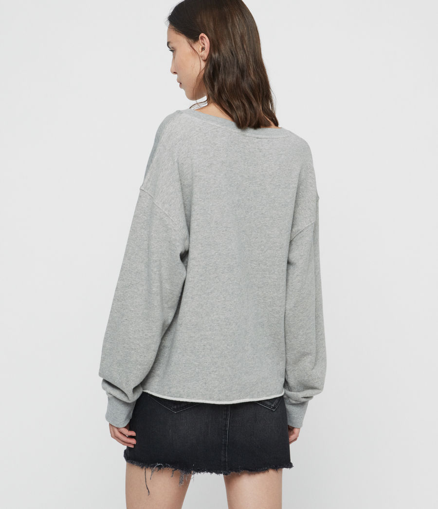 Damen Rose Piro Sweatshirt (grey_marl) - Image 5