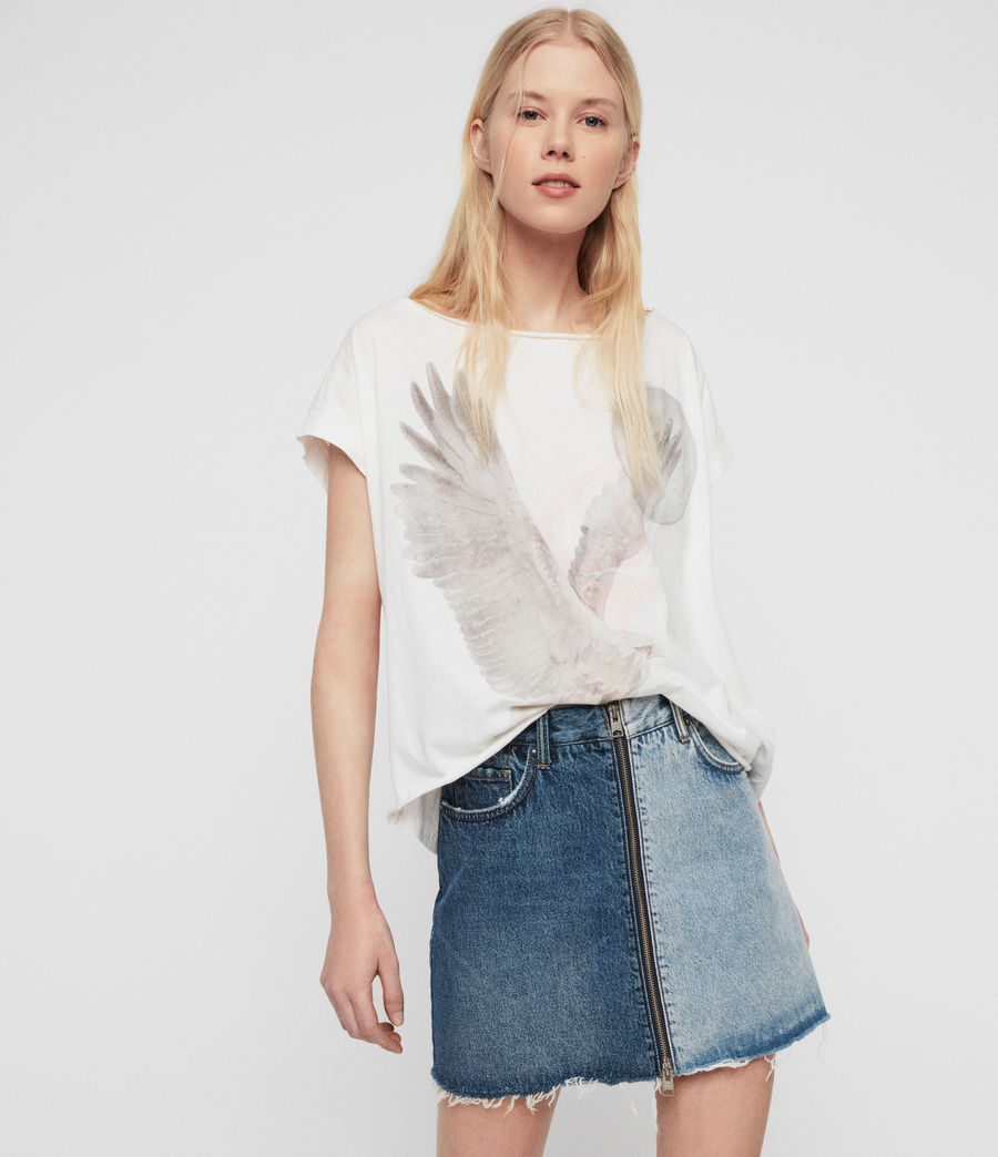 Womens Eagle Pina T-Shirt (chalk_white) - Image 4