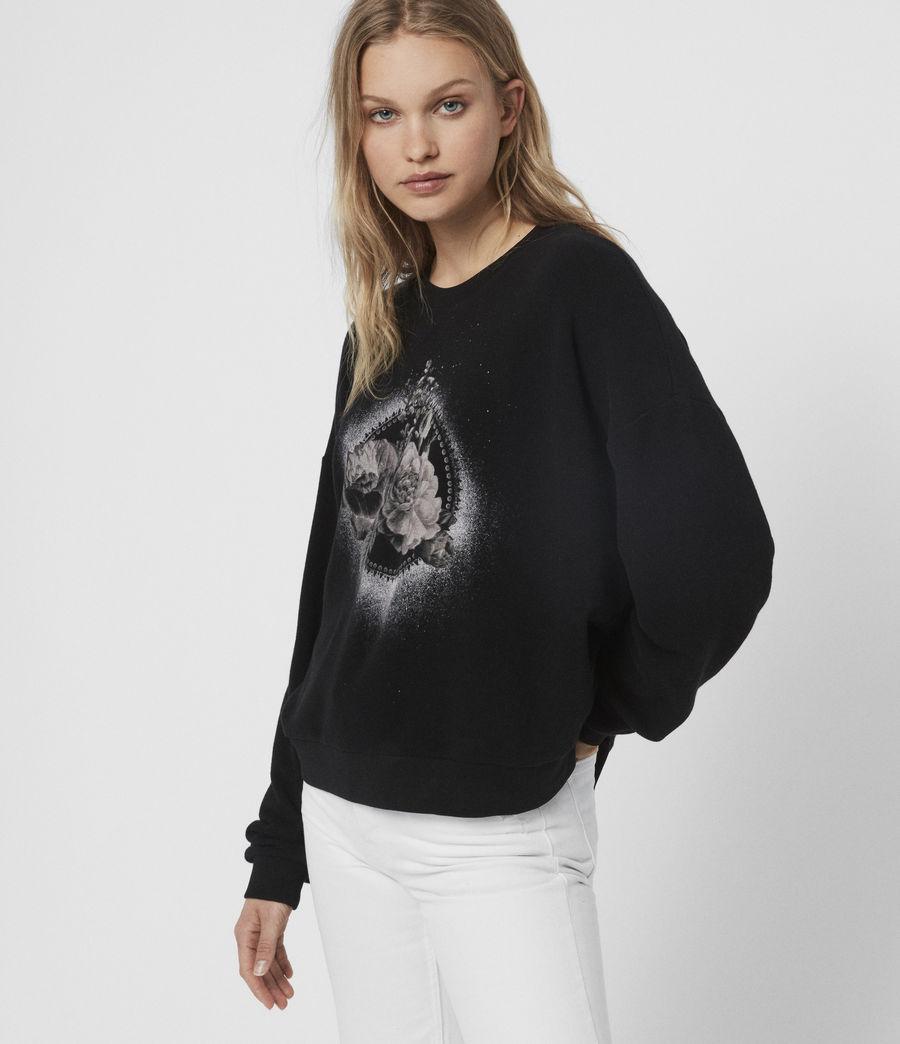 Damen Ethie Lo Sweatshirt (black) - Image 2