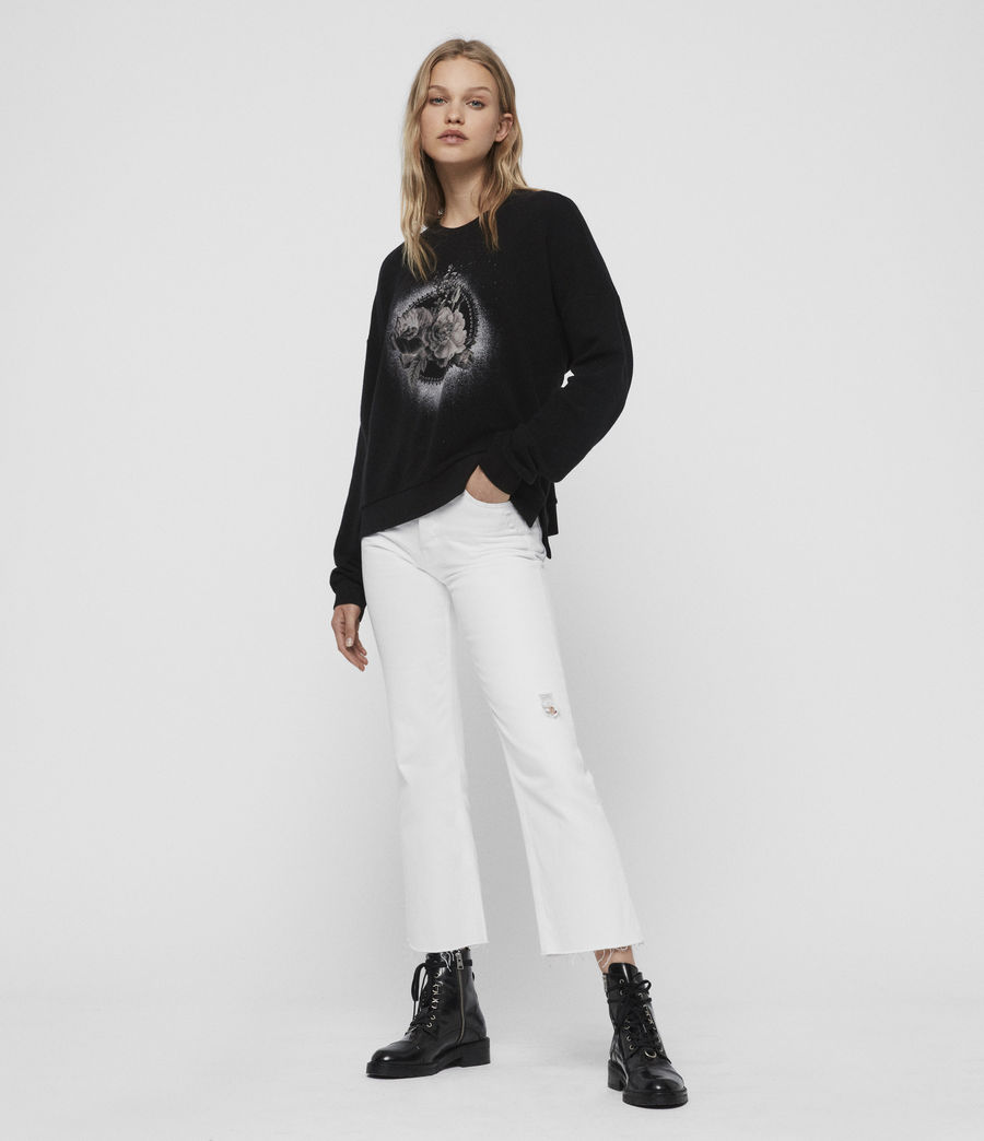 Damen Ethie Lo Sweatshirt (black) - Image 3