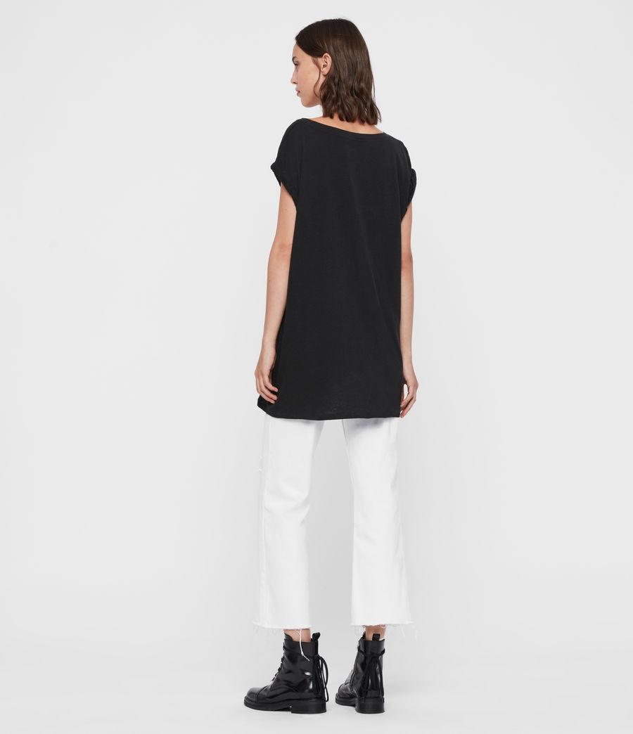 Donne T-shirt Midnight Sanza - Oversize con grafica polaroid (black) - Image 5