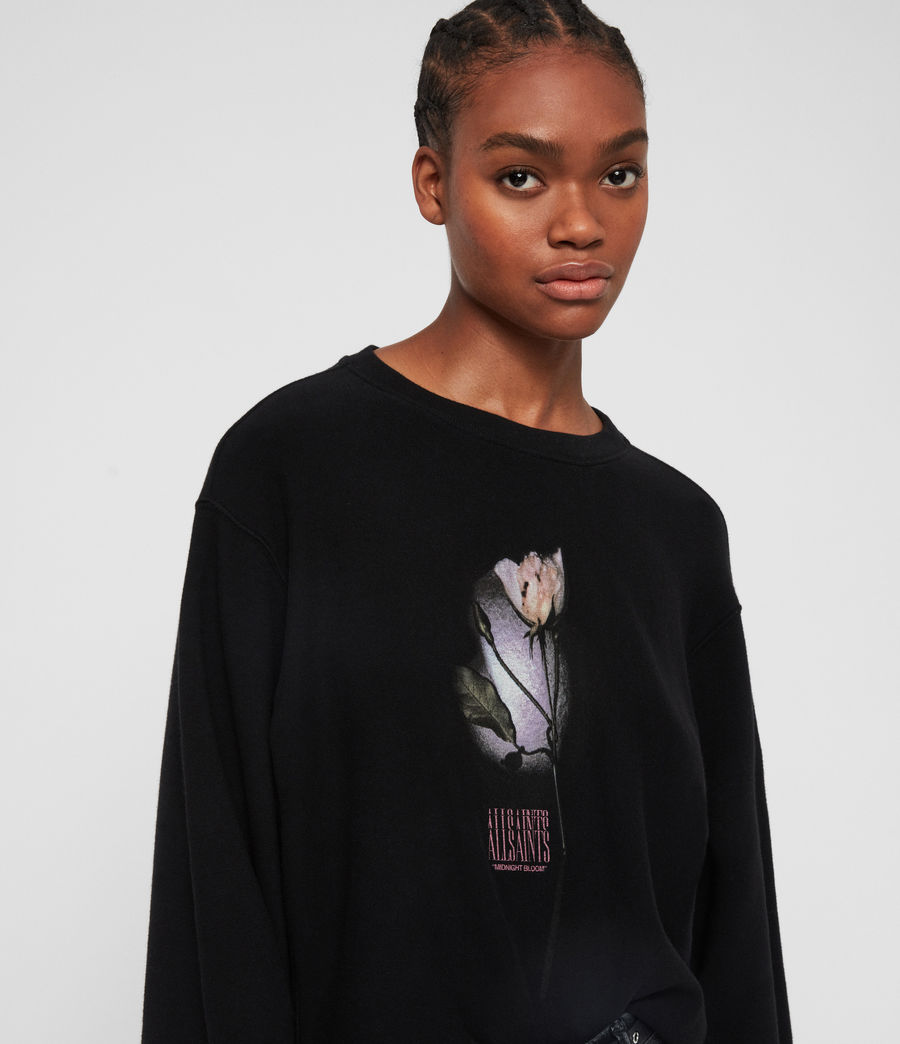 Women's Midnight Navarre Sweatshirt (black) - Image 1