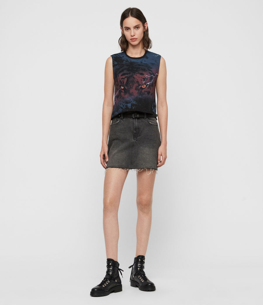Womens Requiem Cropped Tank (black) - Image 2