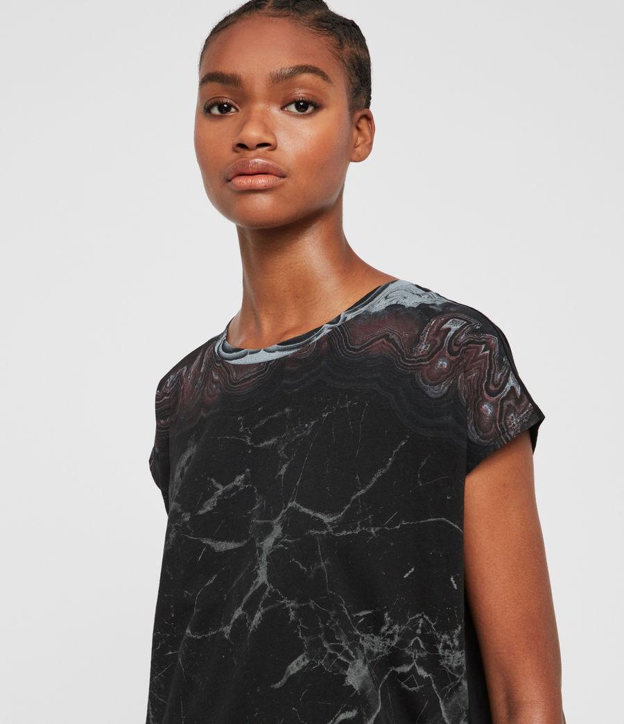Donne T-shirt Marble Ori (black) - Image 2