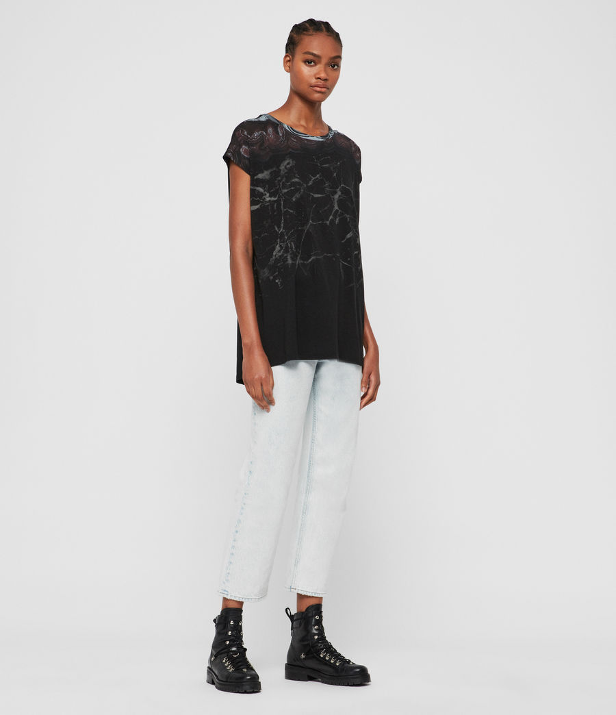 Donne T-shirt Marble Ori (black) - Image 3