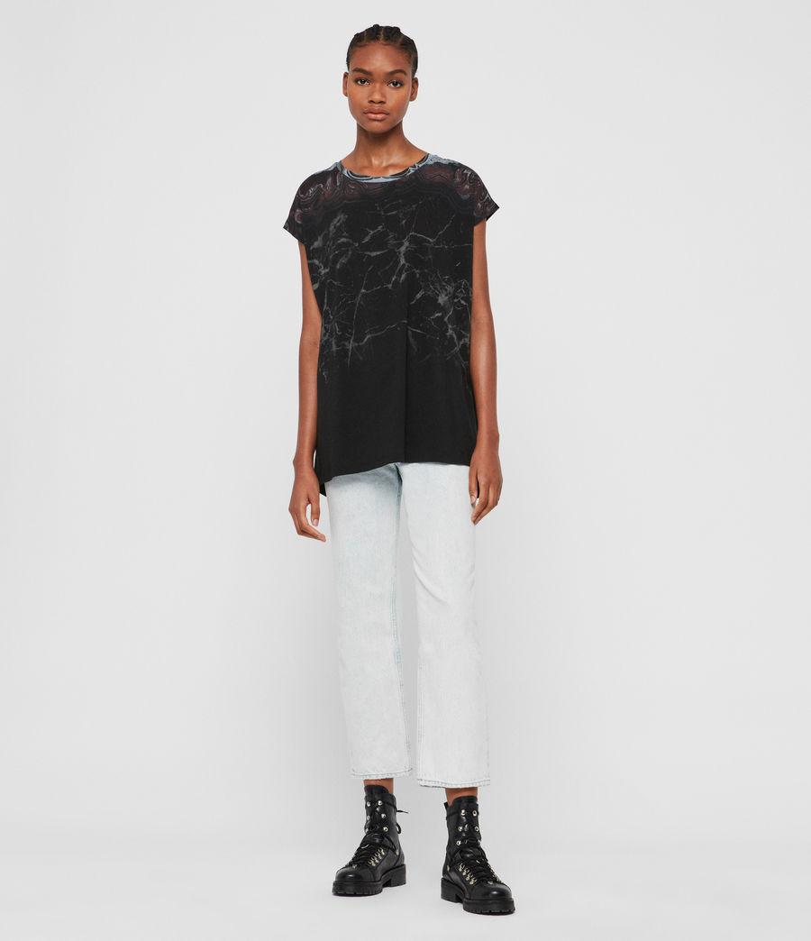 Donne T-shirt Marble Ori (black) - Image 4