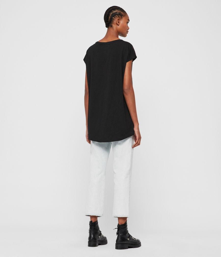 Donne T-shirt Marble Ori (black) - Image 5