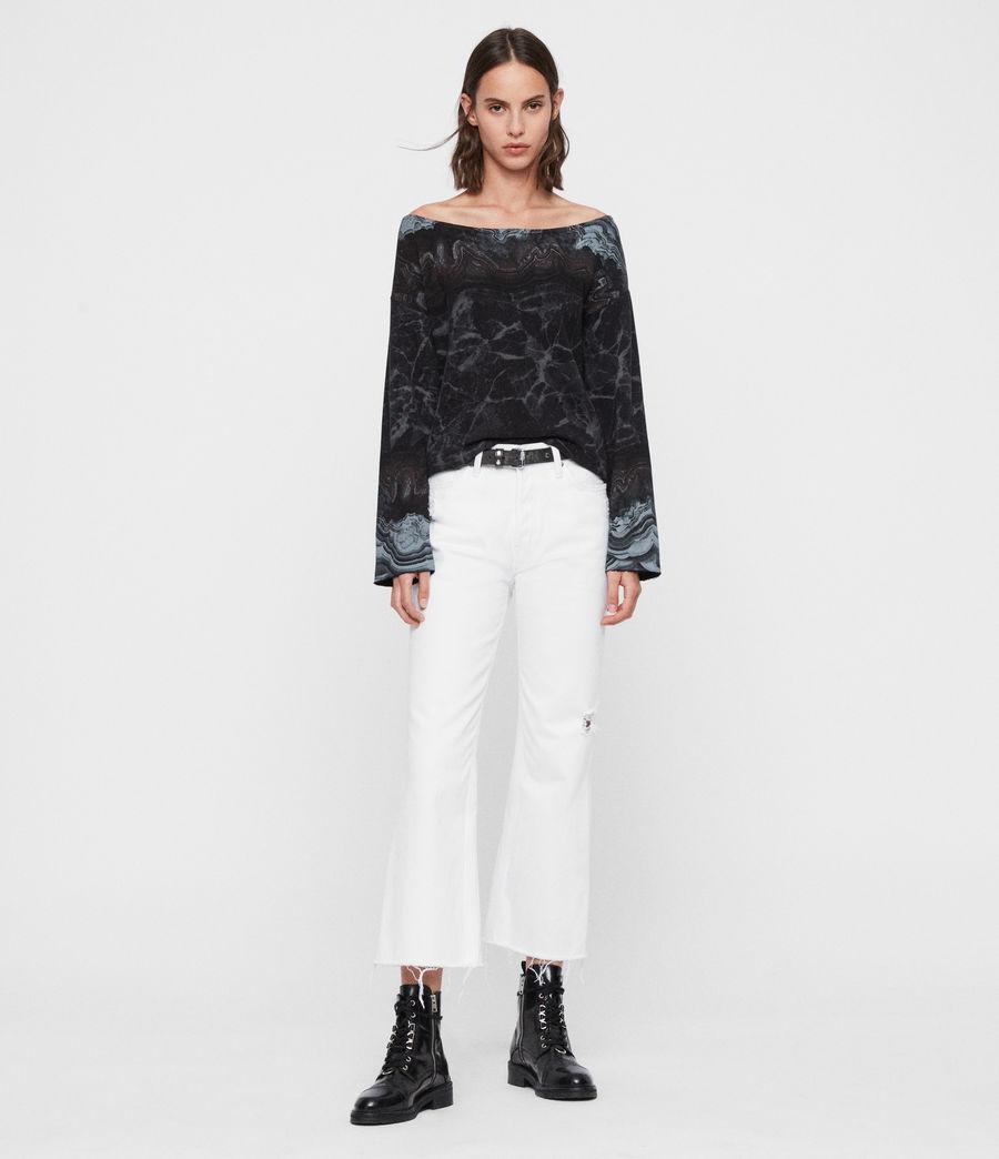 Womens Marble Senia Sweatshirt (black) - Image 1
