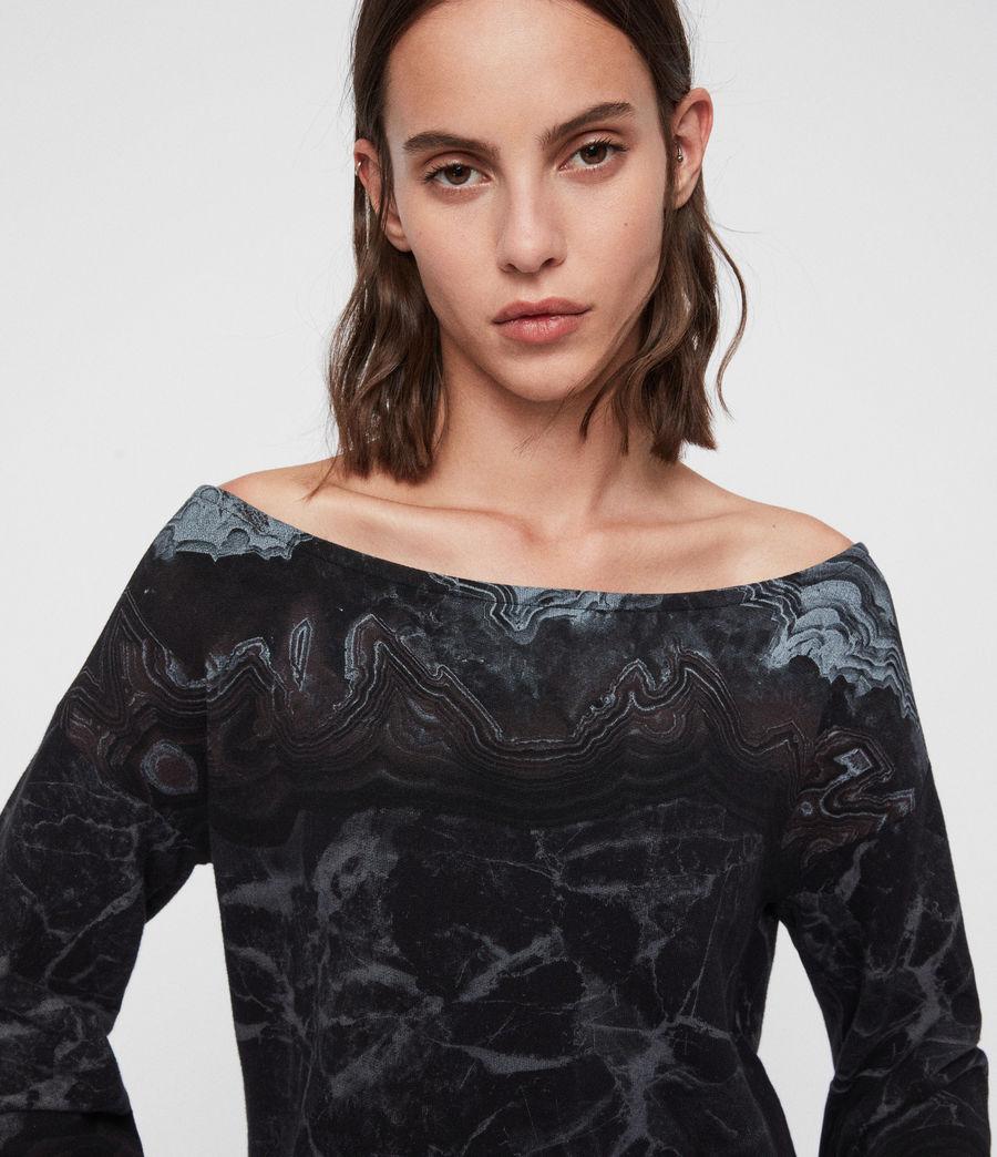 Womens Marble Senia Sweatshirt (black) - Image 2