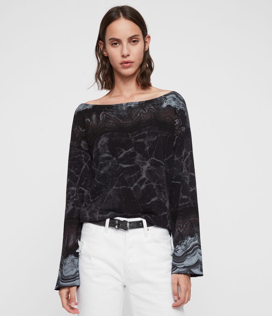 Womens Marble Senia Sweatshirt (black) - Image 3