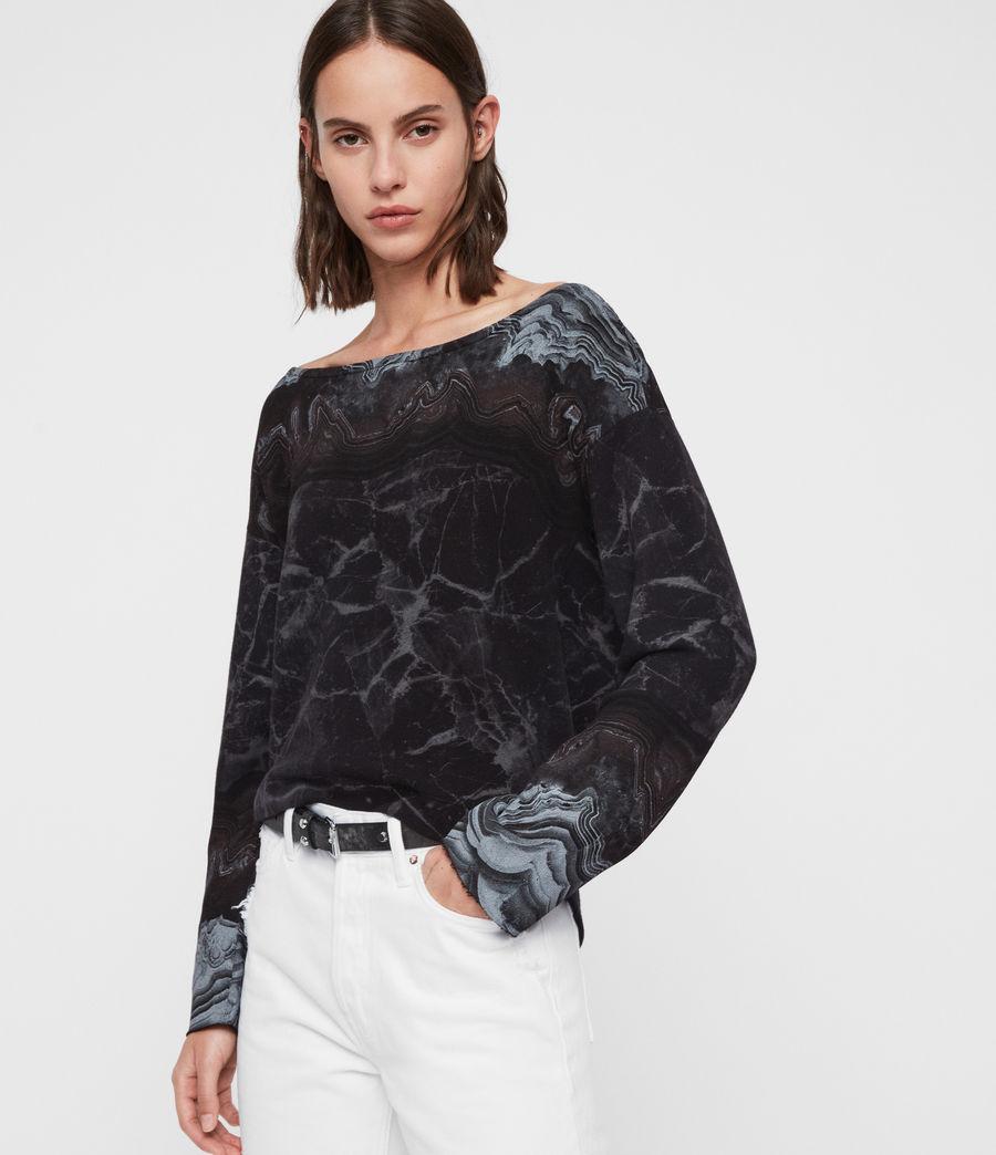 Womens Marble Senia Sweatshirt (black) - Image 4